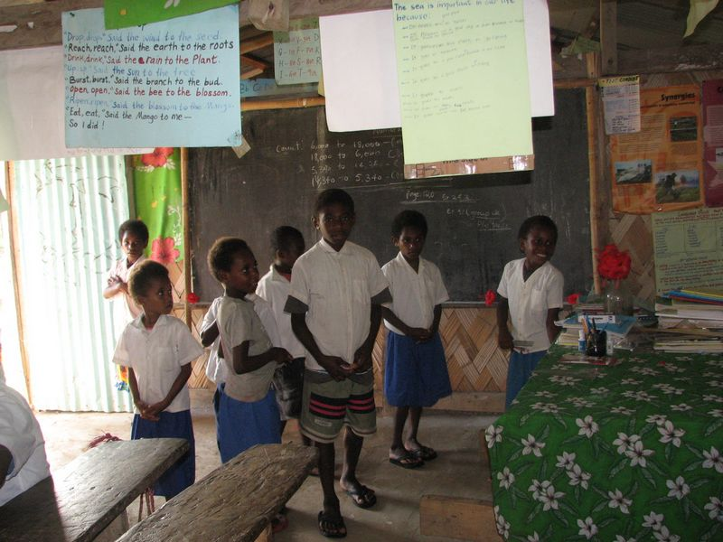 Students inside their classroom
