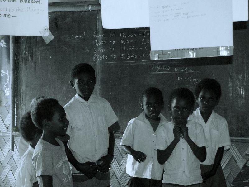 Namaru Primary School students