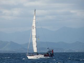 Motorsailing to Noumea in October 2011, taken by Robyn from Tradewinds III