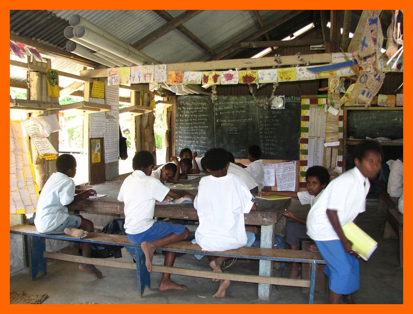classroom at sangalai school