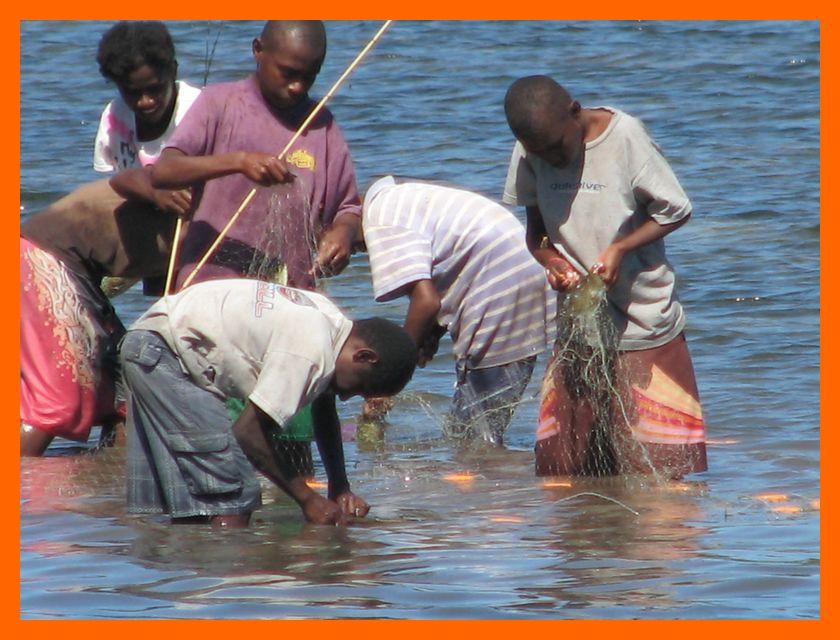 reef fishing at sangalai
