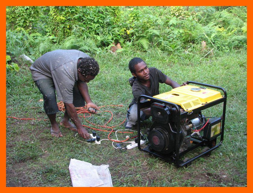 powering up the new generator