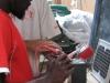 Tasili testing a solar panel