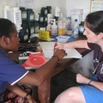 Dr Sarah and Nurse Bambie Steven at Sangalai Clinic