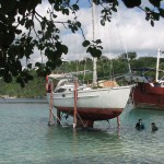 Getting out to dry land_Port Vila Boatyard 30 Oct 2012