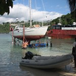 Hauling out_Port Vila Boatyard 30 Oct 2012